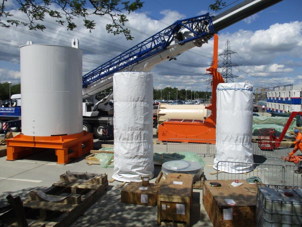 The First HI-STORM Overpack and Two Multipurpose Canisters Arrive at the Sizewell B Site