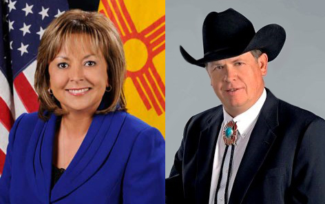 New Mexico's Governor Susana Martinez and Commissioner of Public Lands, Aubrey Dunn