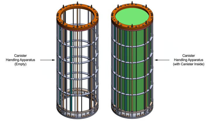 Solidworks™ Rendering of the Canister Handling Apparatus