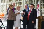"""""""Topping-off"""" Ceremony Marks Completion of the Manufacturing Facility Structure at the Holtec Technology Campus on the Delaware Waterfront in Camden, NJ"""