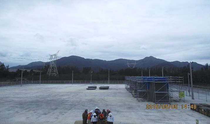 HI-STORM FW Systems on Completed ISFSI Pad at Laguna Verde Nuclear Power Plant