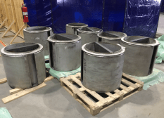 Vent assemblies manufactured at Holtec's Advanced Manufacturing Division in Camden.