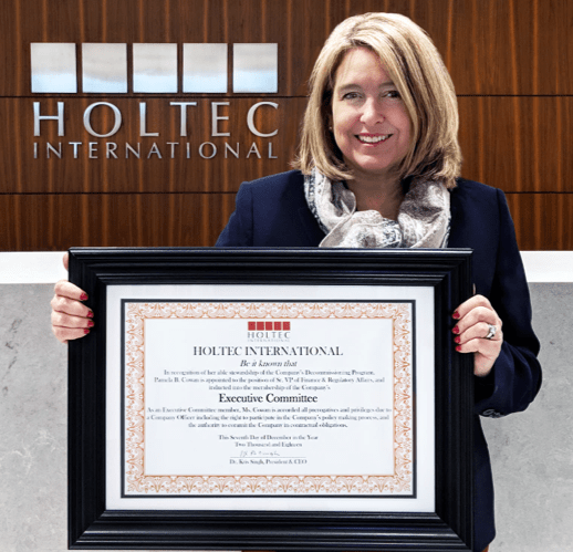 Ms. Pamela Cowan, Senior Vice President and Chief Operations Officer of Holtec Decommissioning International