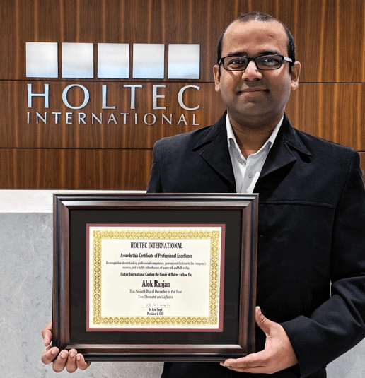 Mr. Alok Ranjan , Holtec Fellow-2018 Award Recipient