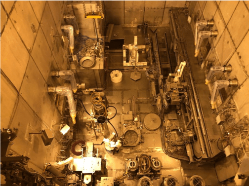 Partial top view of the ISF-2 Hot Cell