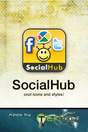 SocialHub Launch Screen