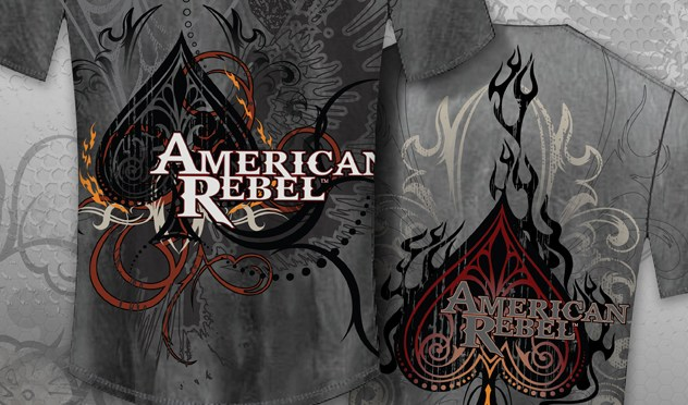 American Rebel Ace of Spades T-Shirt Design