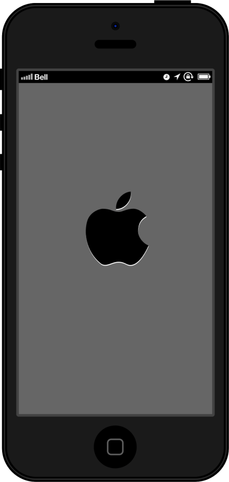 iPhone 5 Vector Illustration, Front