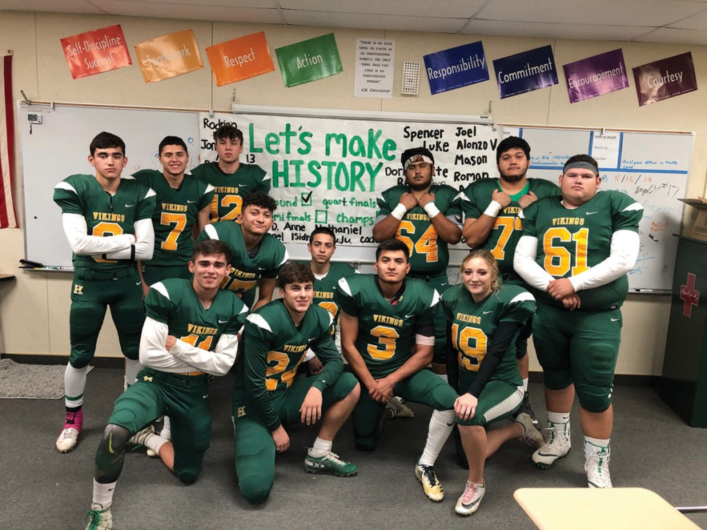 he departing seniors of the 2019 Holtville Vikings football team.