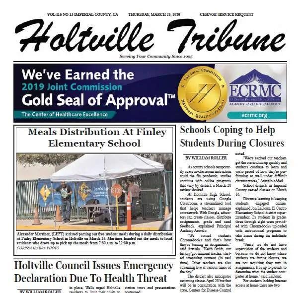 Holtville Tribune e-Edition 3-26-20