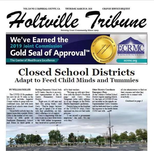 Holtville Tribune e-Edition 3-19-20