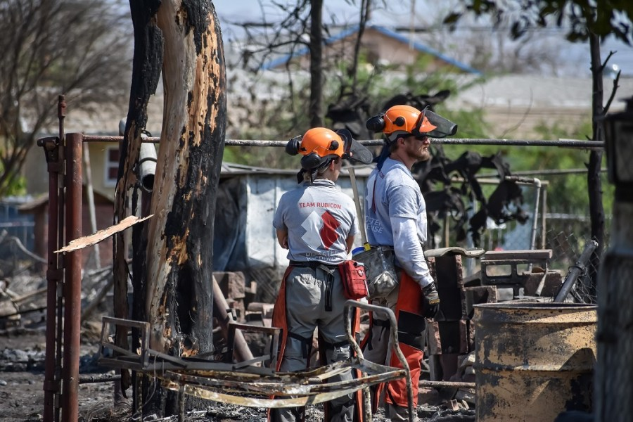 Team Rubicon's Military Vets Aid Niland Fire Clean-up