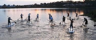 paddleboard group