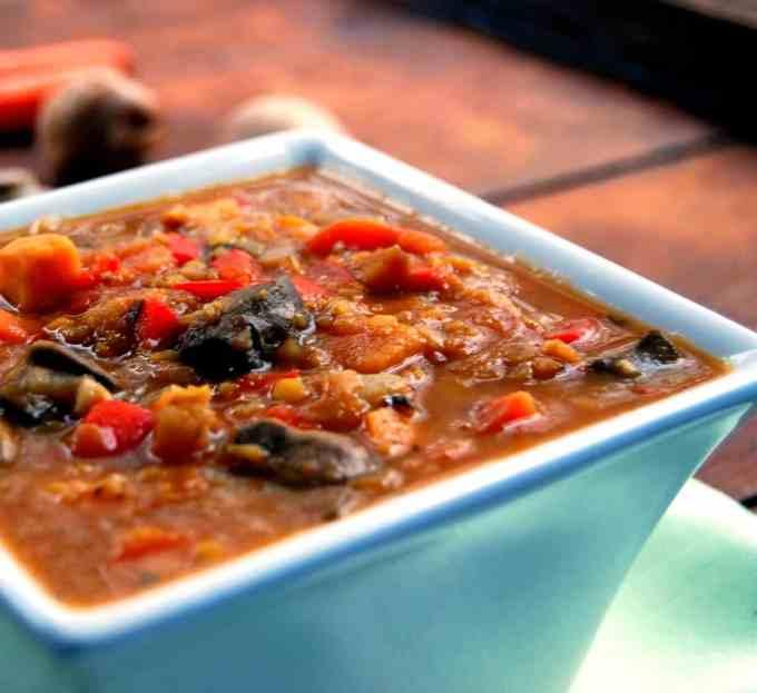 Ethiopian Stew with lentils and veggies