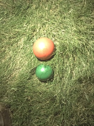 Two croquet balls