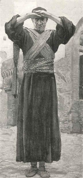 A stern male figure - Ezekiel by James Tissot