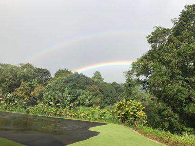 A photo of a double rainbow
