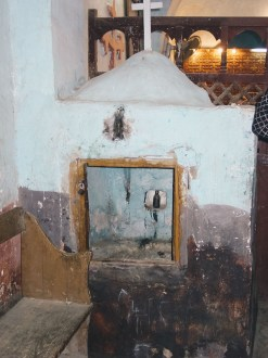 Photo: Paul Perry, baptismal font in the church of Buq.