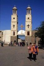 Photo: Norbert Schiller, visitors at Dayr al-Muharraq.
