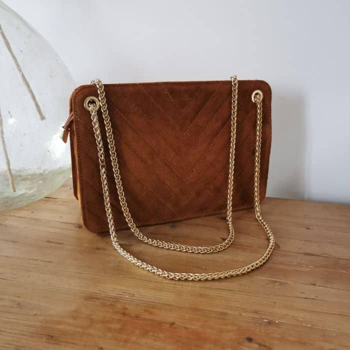 sac à main en cuir camel