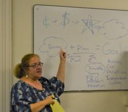 Angela teaching life skills
