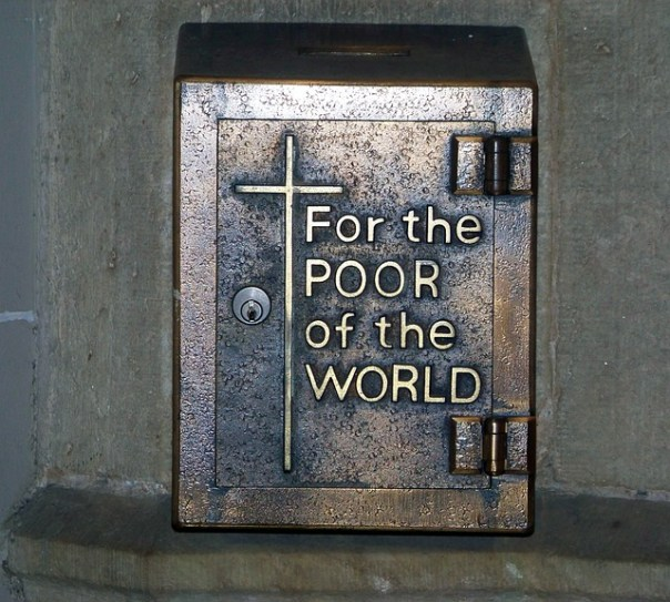 holy justice for the poor, a collection box
