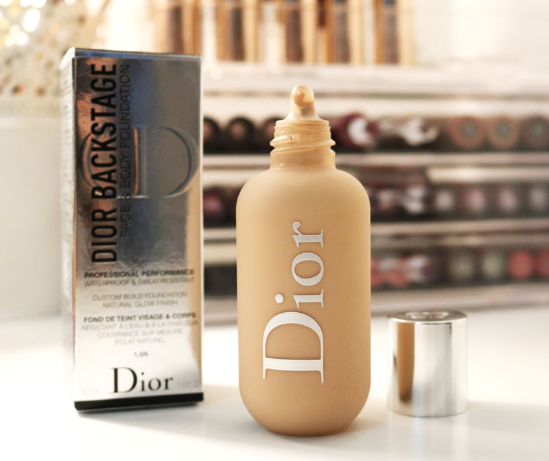 Ensemble packaging et Fond de teint Dior Backstage