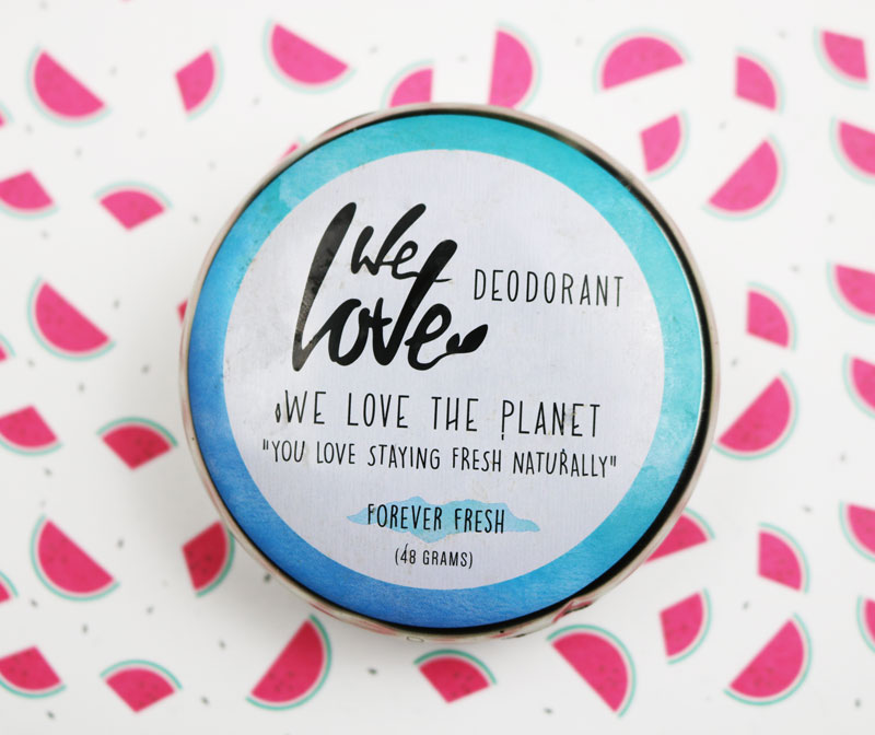 Deodorant we love the planet avec sa texture creme le deodorant est bio