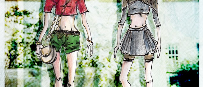 Croquis de mode – haut court