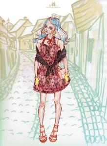 "Fashion Illustration ""yellow gloves"""