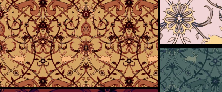 Surface pattern design – rabbits and fox