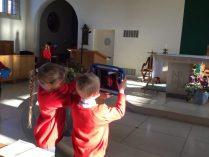 Photographing prayer symbols