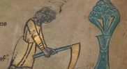 TCD MS 90 f2r March: digging. © The Board of Trinity College Dublin