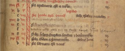 TCD MS 194 f113r Entry in the calendar concerning the foundation of All Hallows © The Board of Trinity College Dublin