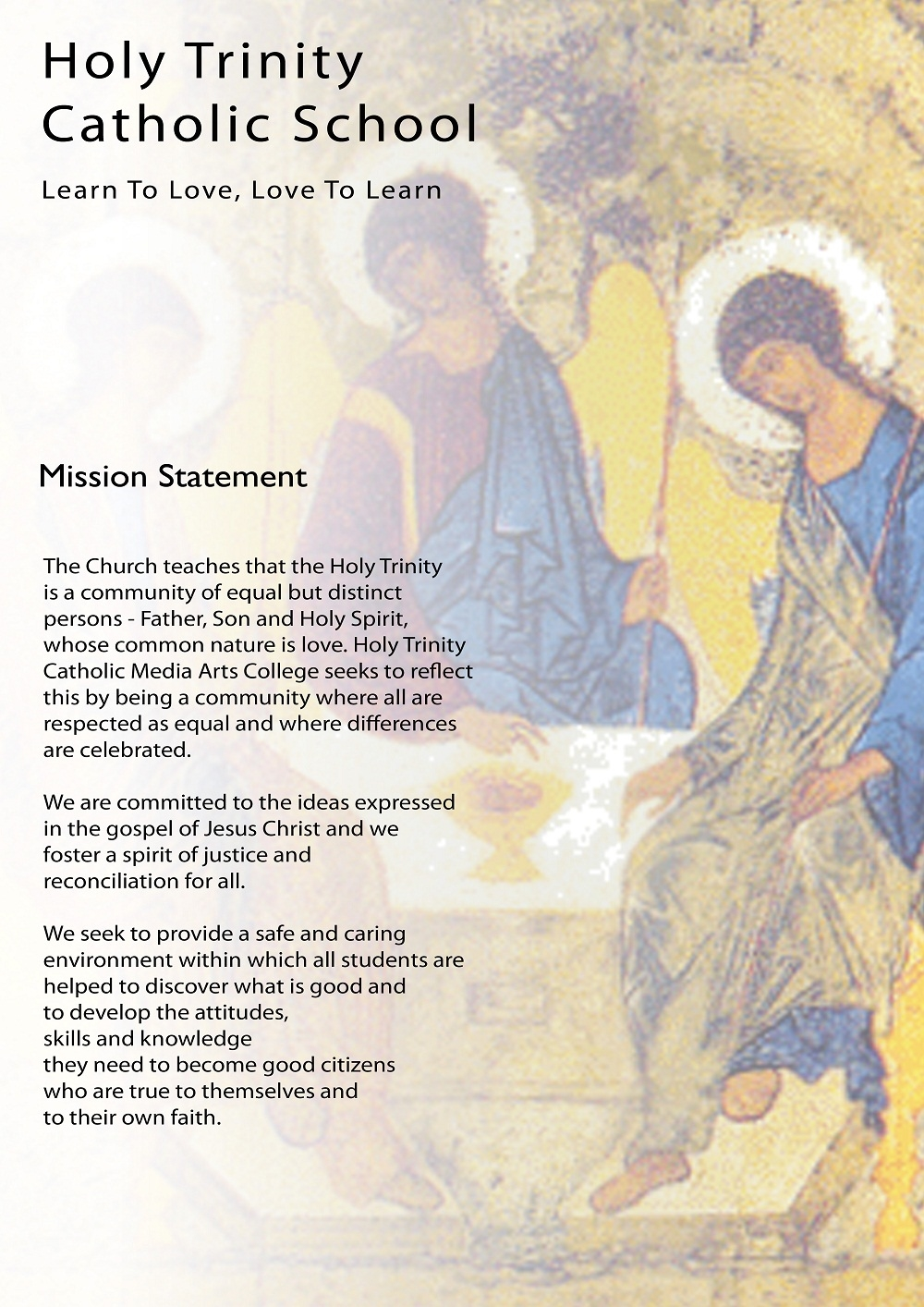 mission statement holy trinity catholic school home spiritual life mission statement