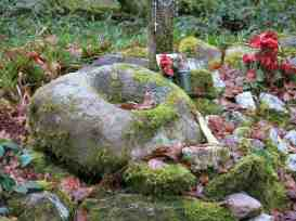 Ballaun on St Abban's shrine, near a holy well