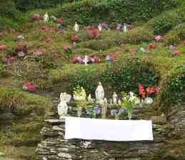 Lady's Well, decorated on the 15th August