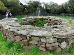 The well enclosed by a stone wall