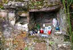 Shrine in an old aumbry