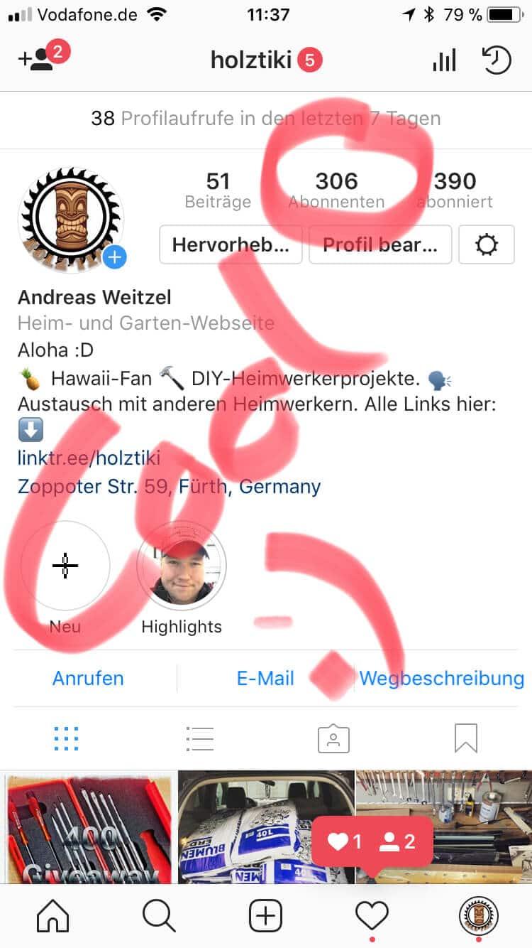 Ich find euch super - 300 Instagram Follower - Spitze :D