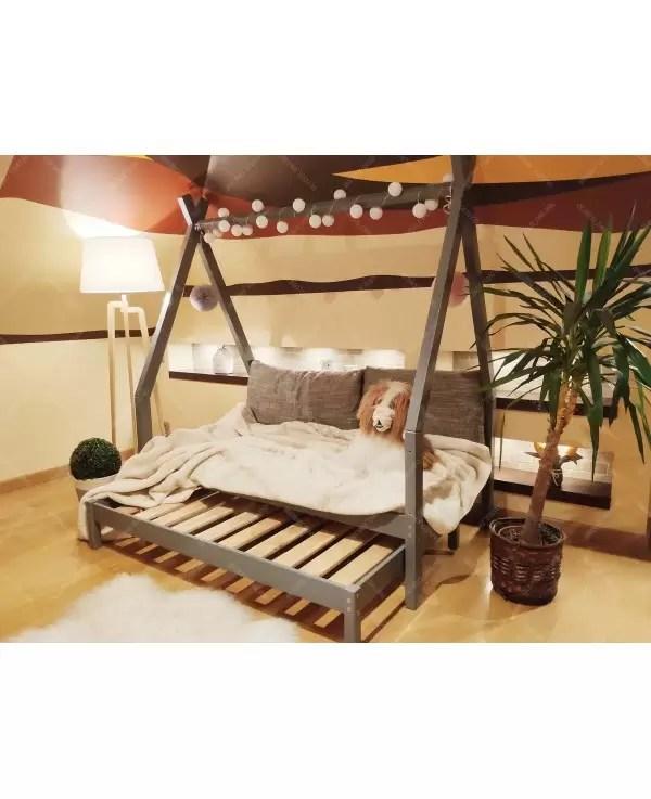 house bed wooden children s bed tipi 8 natural