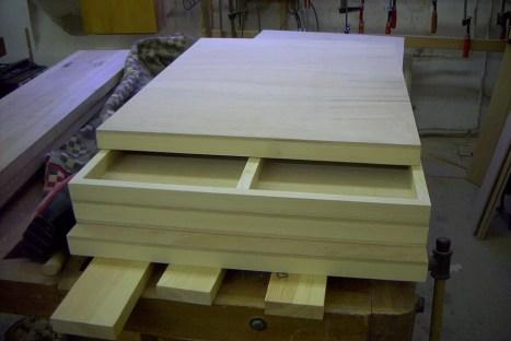 Platte in Ceiberplatte, Rahmen Fichte