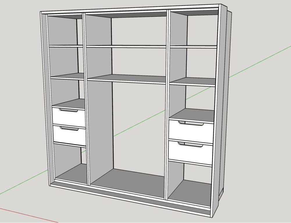 Hervorragend Kleiderschrank selber bauen - Teil 1 - holzwerkerblog.com ZI64