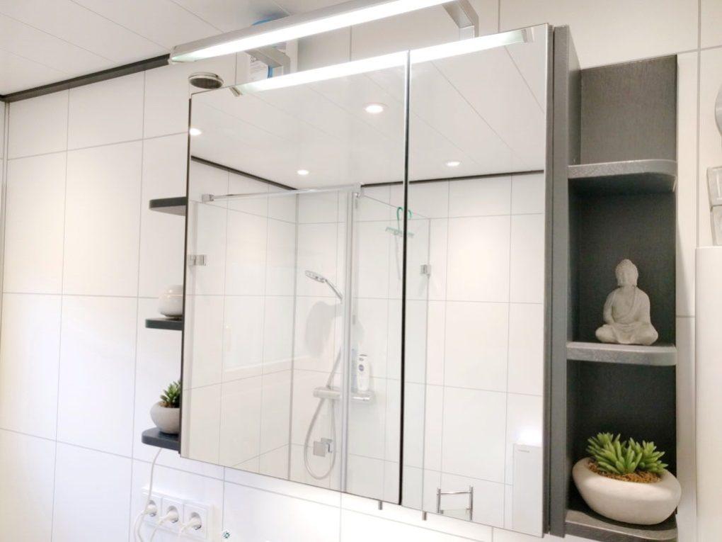 Seitenregale Spiegelschrank