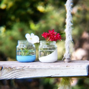 Painted Jar Vases