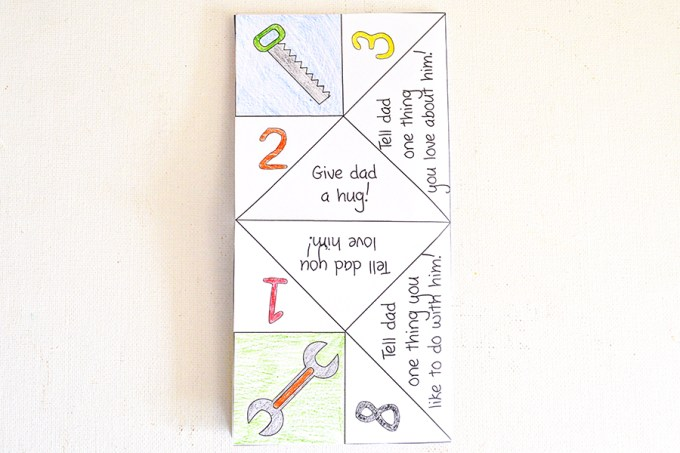 Father's Day Cootie Catcher   Homan at Home