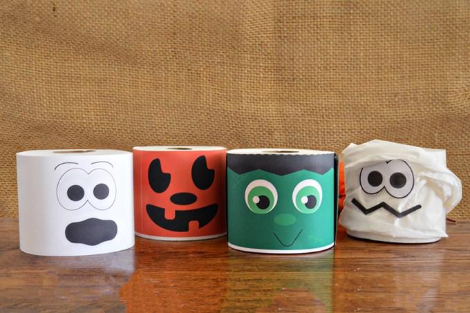 Halloween Toilet Paper Centerpieces   Homan at Home