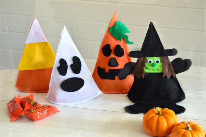Halloween Felt Candy Holders | Homan at Home