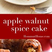 Apple Walnut Spice Cake