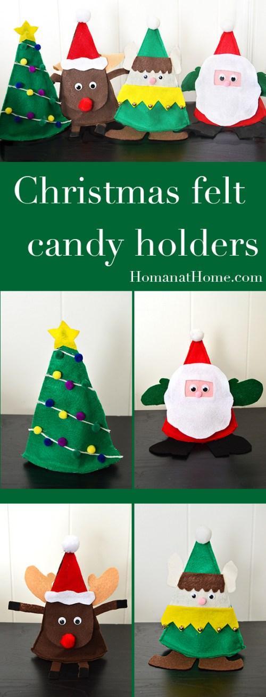 Christmas Felt Candy Holders   Homan at Home